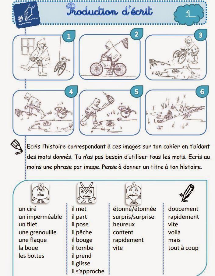 Exercice De Production Ecrite Avec Des Images Sequentielles Ressources Pedagogiques Teaching French French Education French Lessons
