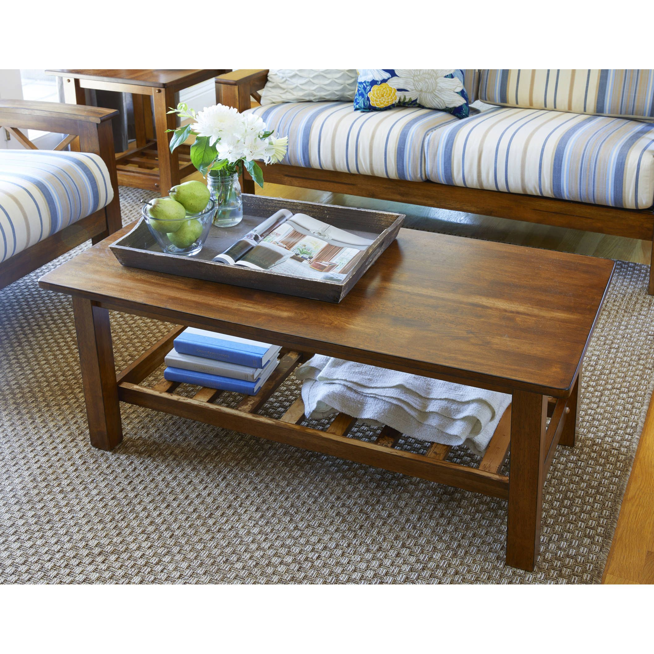 Handy Living Baltimore Cherry Wood Coffee Table With