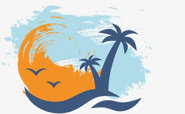Palm Vector Hand Watercolor Coconut Tree Png And Vector With