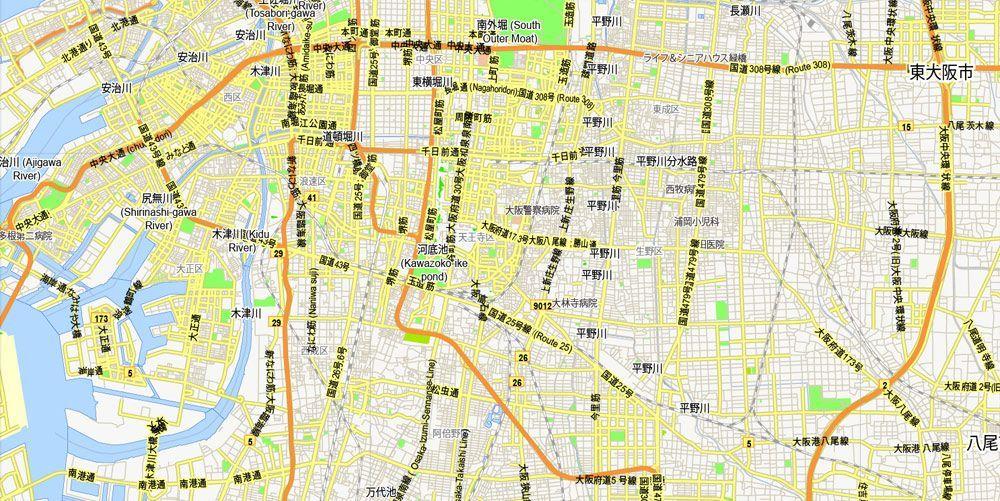 Osaka Map Pdf