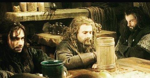 Good night all #thorin #fili #kili #durins #dwarves #thorinoakenshield #richardarmitage #deanogorman #aidanturner