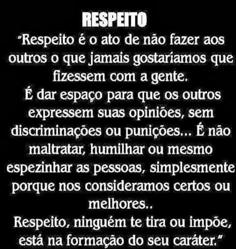 Respeito Muito Os Outros Adorei Muito Isso
