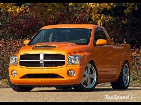 Orange Dodge Durango Pickup