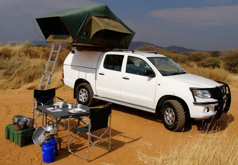 toyota hilux 4x4 camping car hire namibia into the wild pinterest. Black Bedroom Furniture Sets. Home Design Ideas