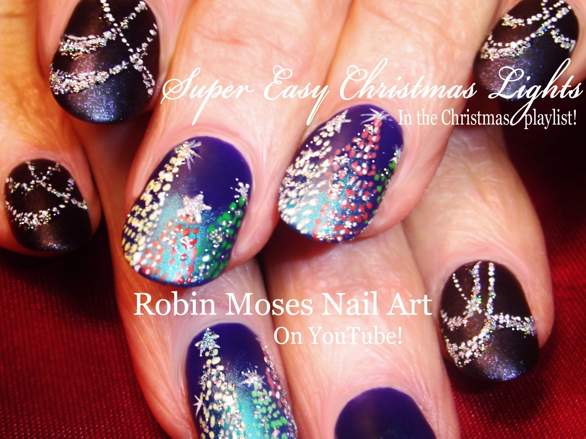 Christmas lights at night nail art design holiday bling nails christmas lights at night nail art design holiday bling nails tutorial prinsesfo Choice Image