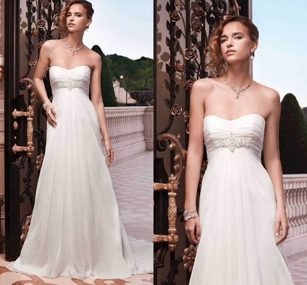 Click to buy ucuc cheap sexy strapless simple wedding dress