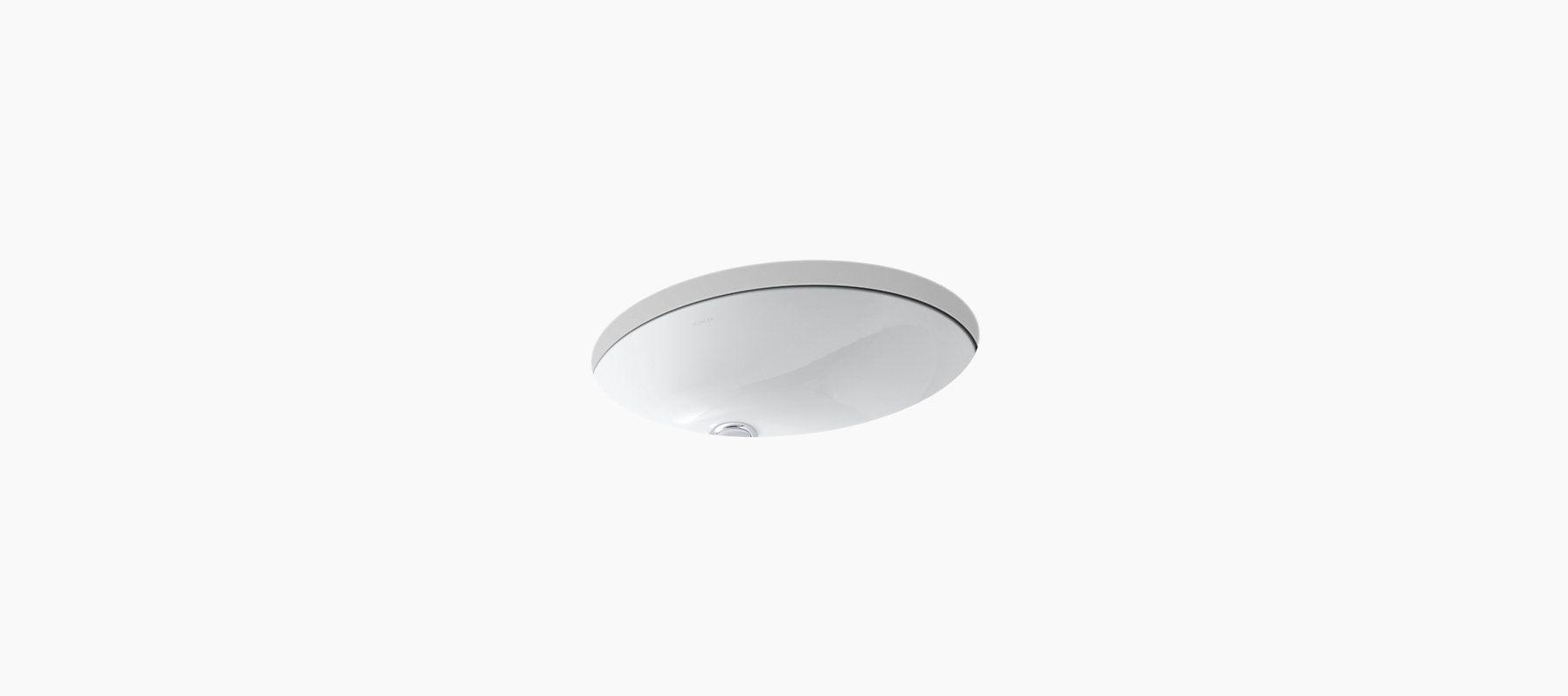 kohler caxton undermount sink w overflow drain in white k 2210 n - Kohler Waschbecken Armaturen