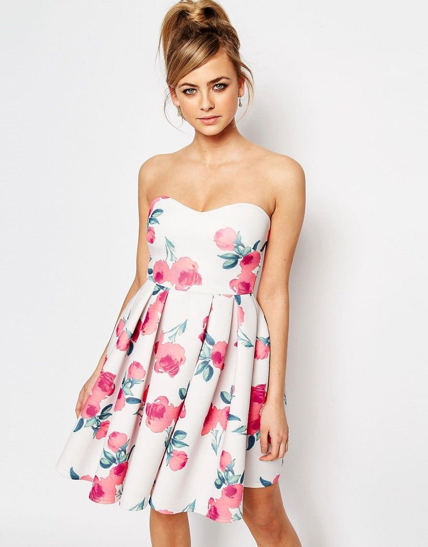 Asos tall wedding guest dresses  Oh My Love Bandeau Prom Dress  Items I fell in love with