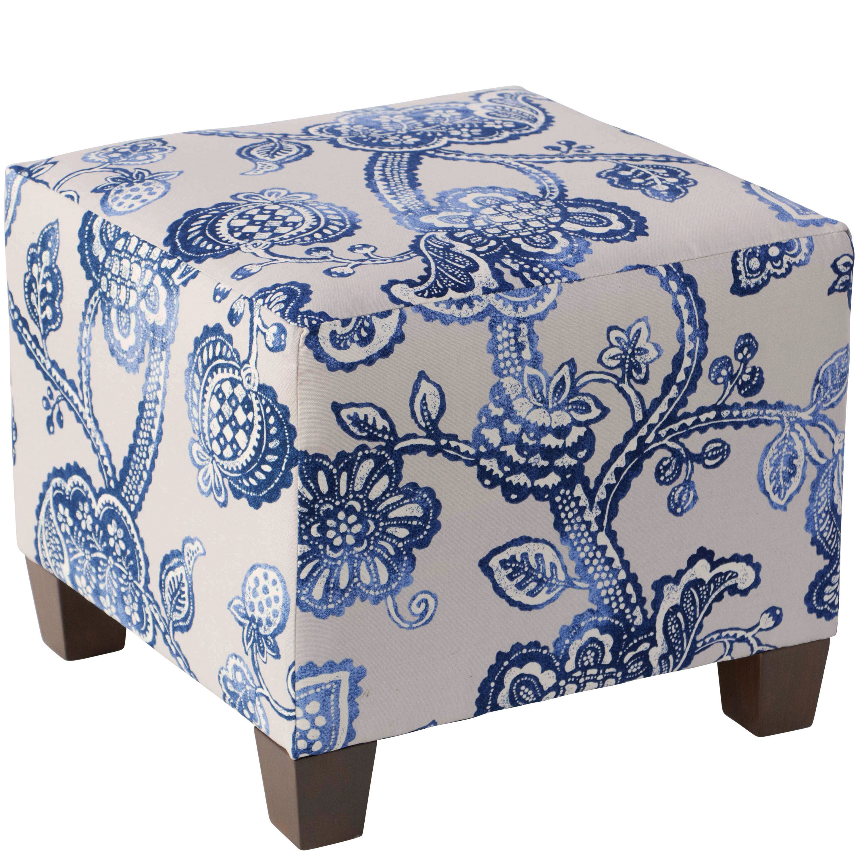 Skyline Furniture Lovina Indigo Square Ottoman | Products | Pinterest