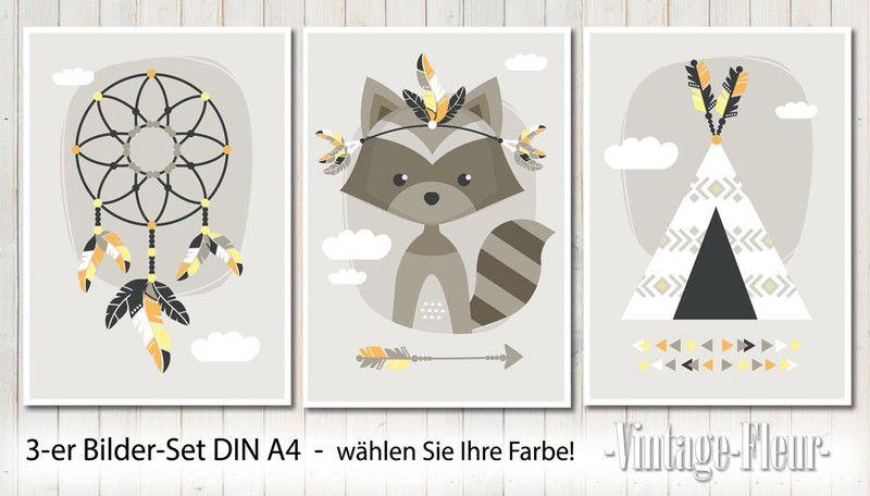 3-er Set Poster Bilder Kinderzimmer A4 | Dekoration