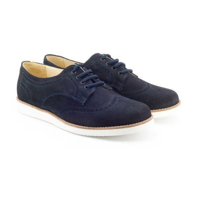 a77f055e789f4 Boni Hugo - chaussures garçon Daim Bleu