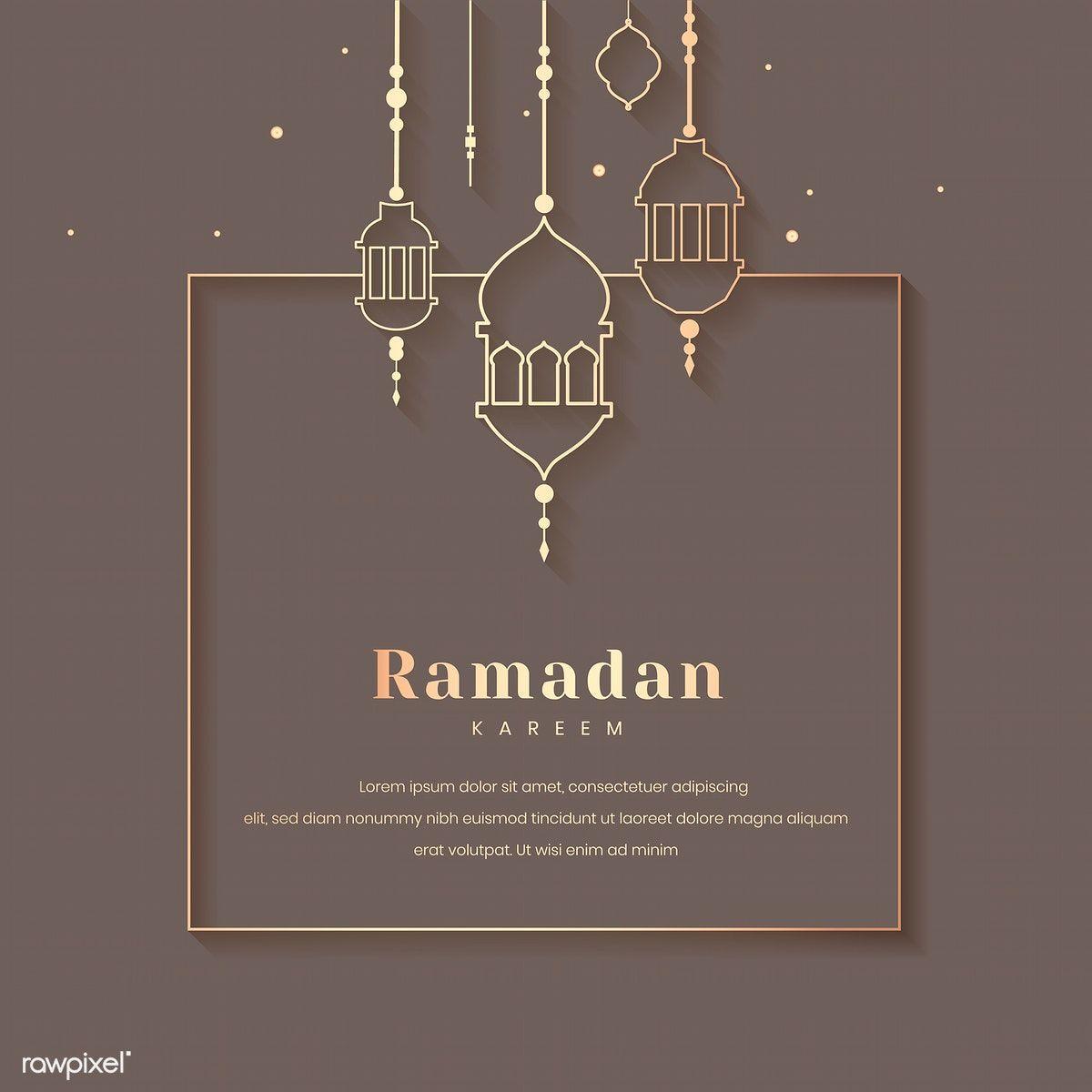 Ramadan Mubarak Frame With Lantern Vector Free Image By Rawpixel