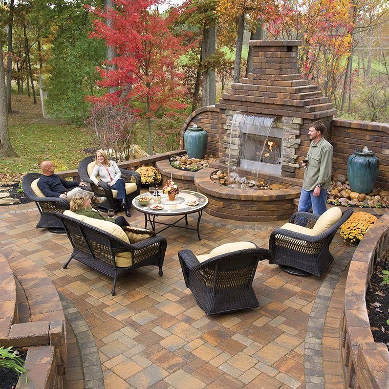 Die besten 17 Bilder zu Back yard designs auf Pinterest Terrasse - feuerstelle garten naturstein