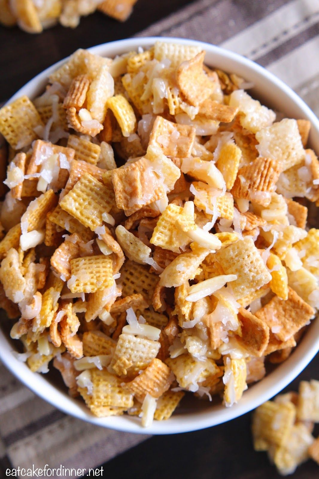 Moms Coconut Almond Chex Mix {Best Ever}