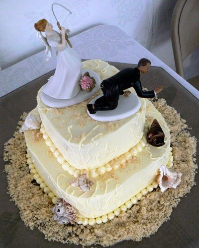 Beach Themed Cakes Fishing Wedding Cake Toppers Gift