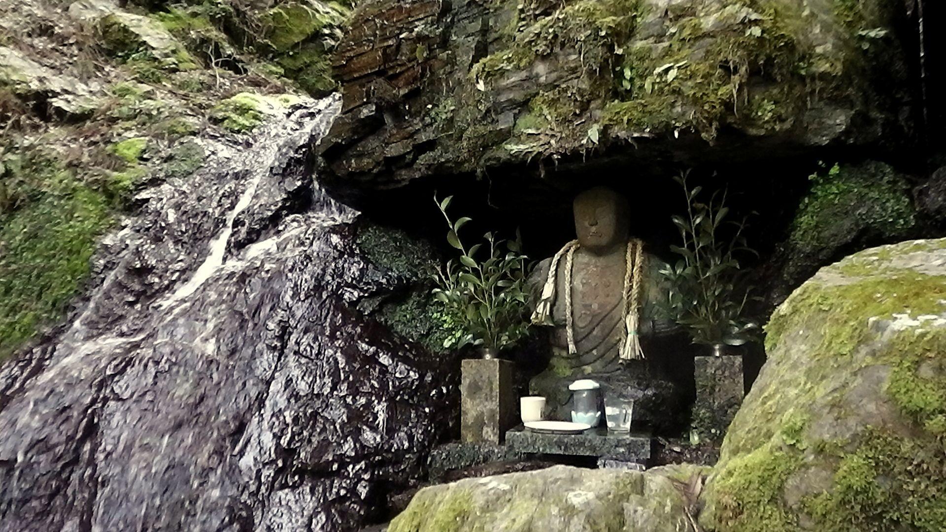 Religious Icon at O-no Taki Waterfalls.