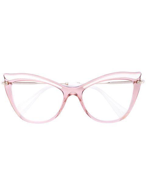 Compre Miu Miu Eyewear Óculos de grau gatinho   Óculos Grau in 2019 ... 8488967b31