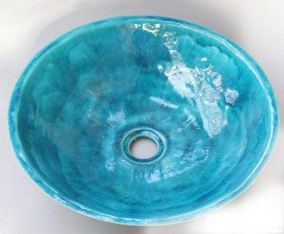 Turkis Tischplatte Waschbecken Keramik Waschbecken Bad