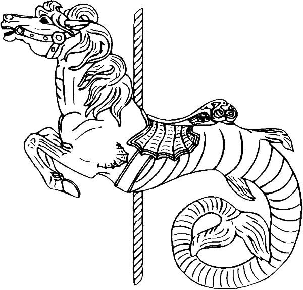 Hippocampus Carousel Horse Coloring Pages Best Place To Color Horse Coloring Pages Horse Coloring Coloring Pages