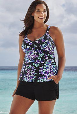 c2a4f350087bb ... swimwear at Swimsuits For All. Shortinis - Beach Belle Hyacinth V-Neck  Cargo Shortini