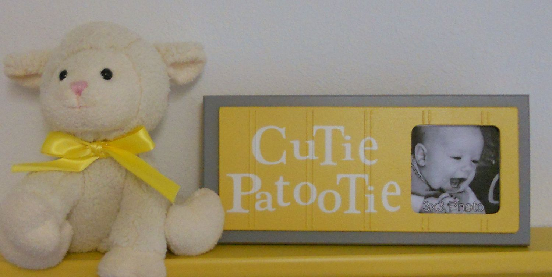 Yellow Gray Nursery Art Photo Frame | Nursery Art Ideas | Pinterest ...