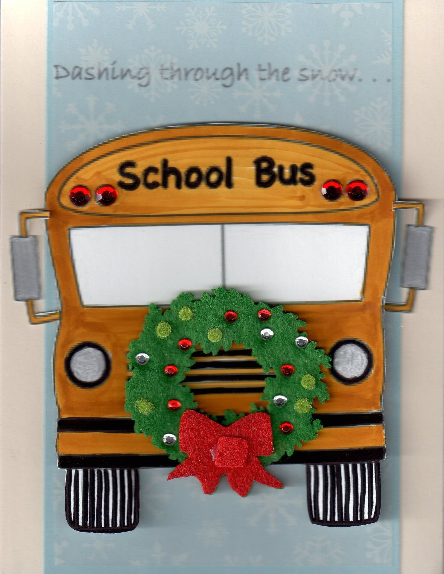 Bus driver christmas card creations re