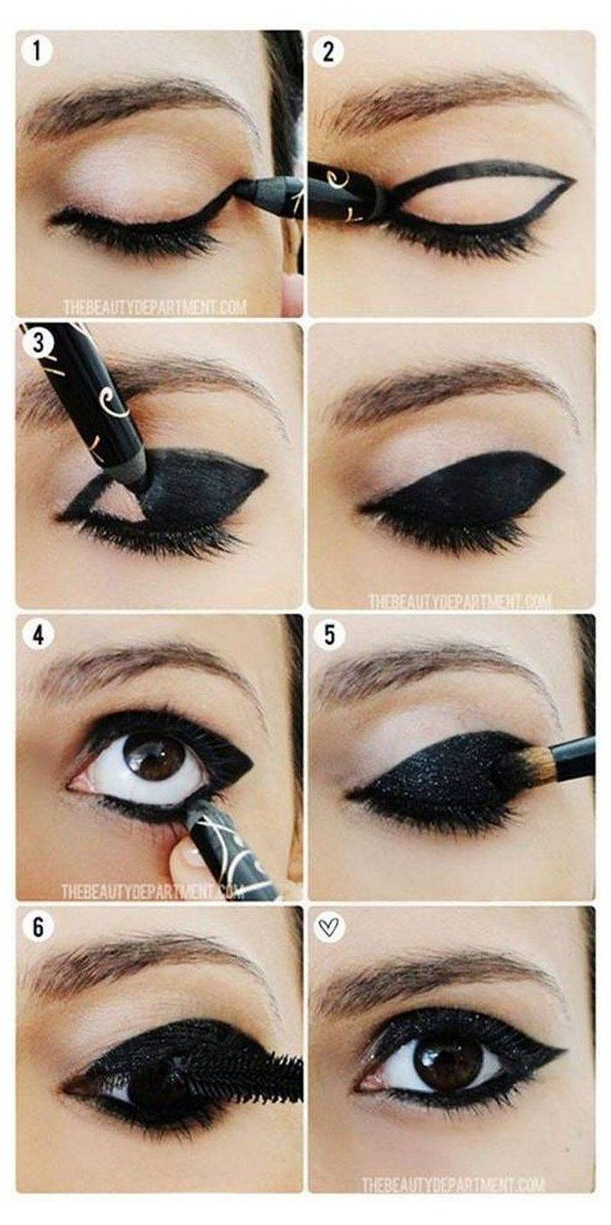 catwoman makeup eye tutorials
