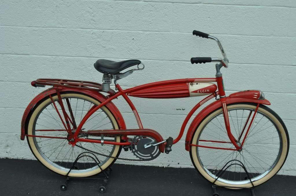 c07dff1bfd7288 Bicycle 1938 Elgin Robin ORIGINAL RED PAINT Only 2 known RARE Pre War Bike