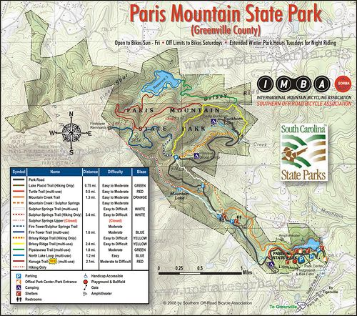 Paris Mountain State Park Greenville South Carolina Southern