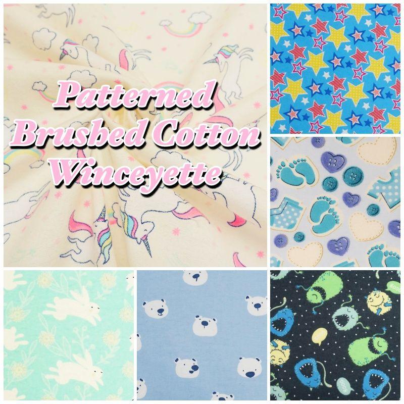 Plain Winceyette Flannelette 100/% Brushed Cotton Rag Quilt //Warm Sheet Fabric