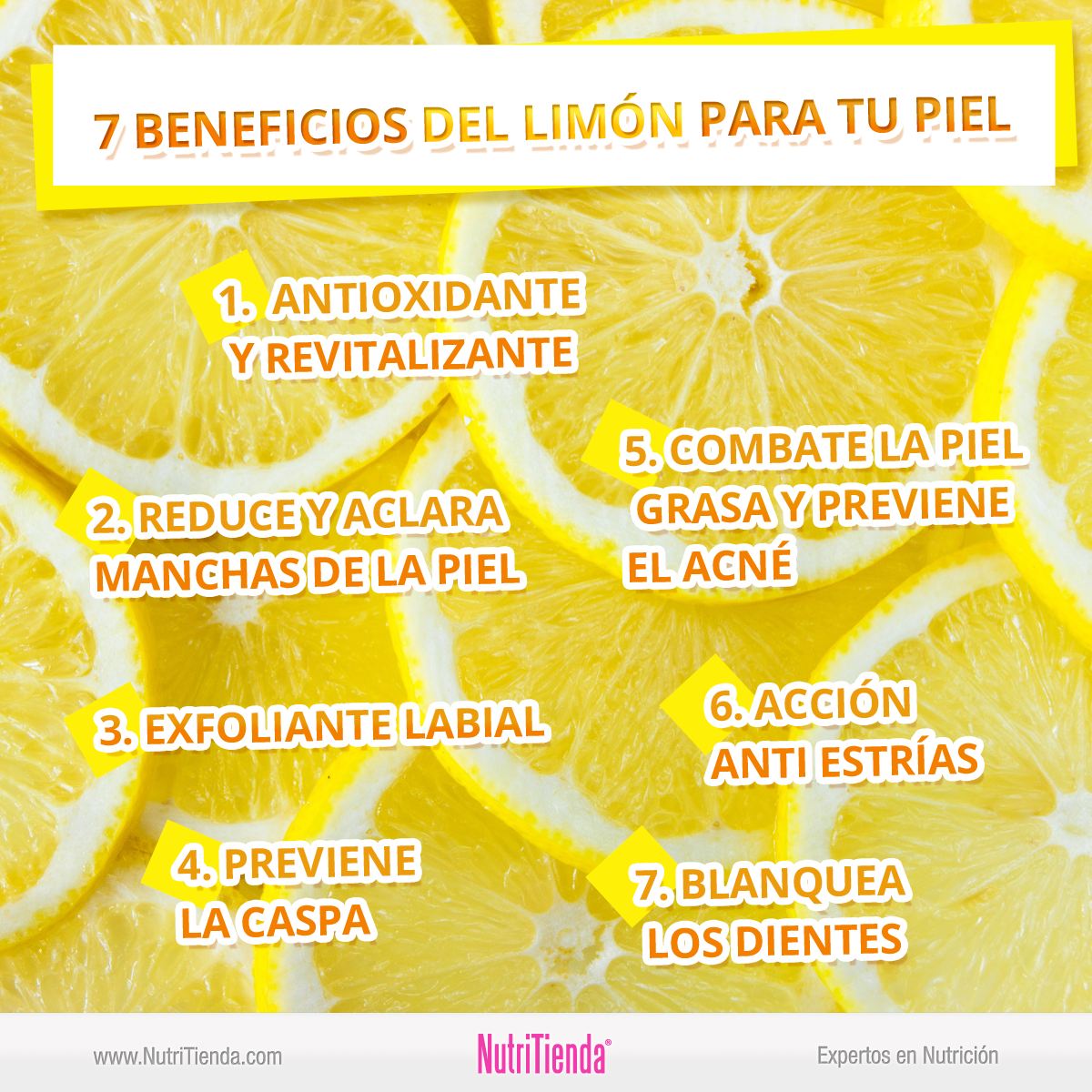 Propiedades del limon en la piel