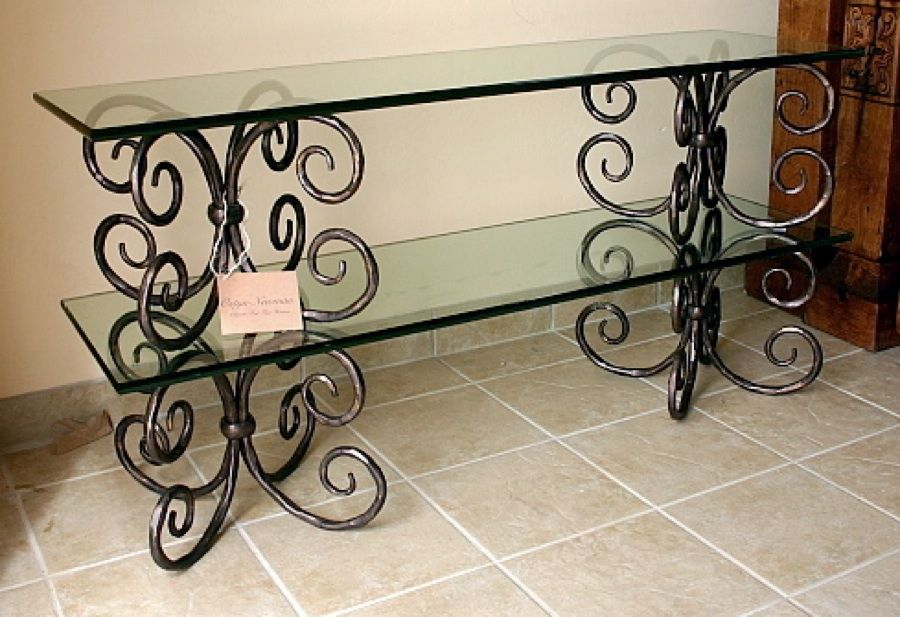 Depiction Of Wrought Iron Sofa Table That Will Fascinated You