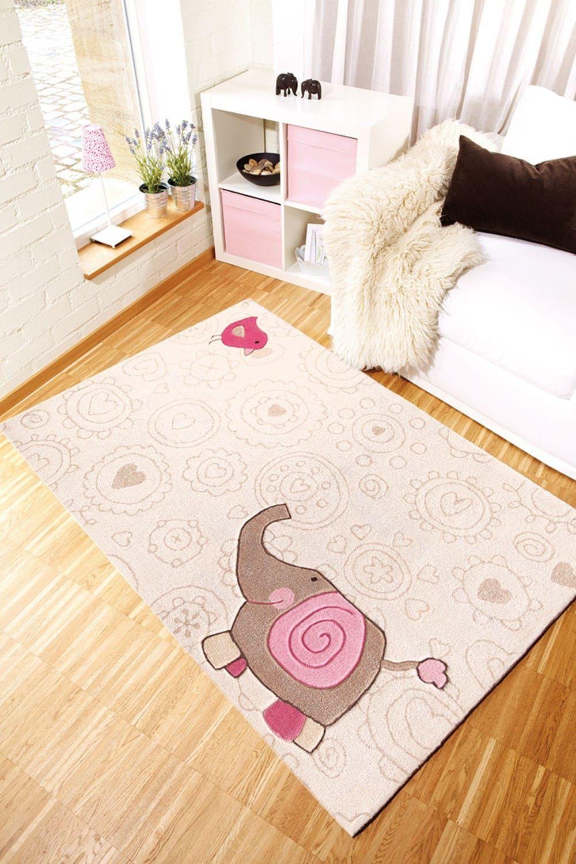 Der Kinderteppich mit Tiermuster (Elefant) ist der niedliche ...