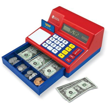 Shop learning resources pretend and play calculator cash register.