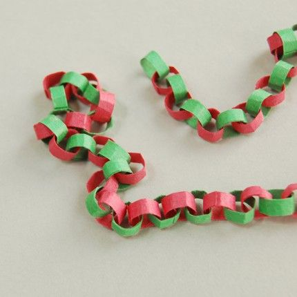 christmas chains | Dollhouse Scale Miniature Christmas Paper Chain Garland