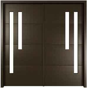Modern Front Double Doors contemporary front door handles | single steel or stainless steel