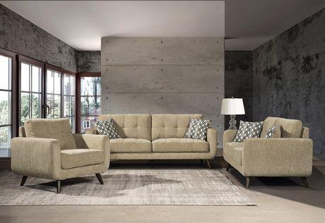 Topline Home Furnishings 2 Pc Beige Sofa And Chair Set Beige