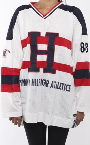 68d8613b Vintage Tommy Hilfiger Hockey Jersey | Cute outfits | Tommy hilfiger ...