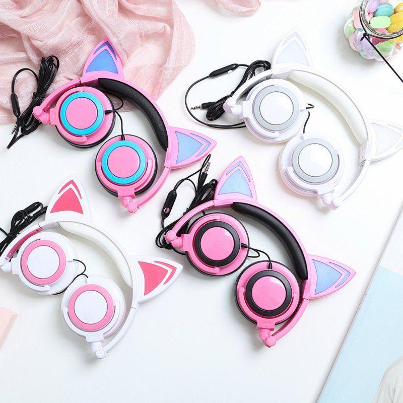 Kawaii cartoon ear computermobile phoneipad headset se10200 kawaii accessories fandeluxe Choice Image