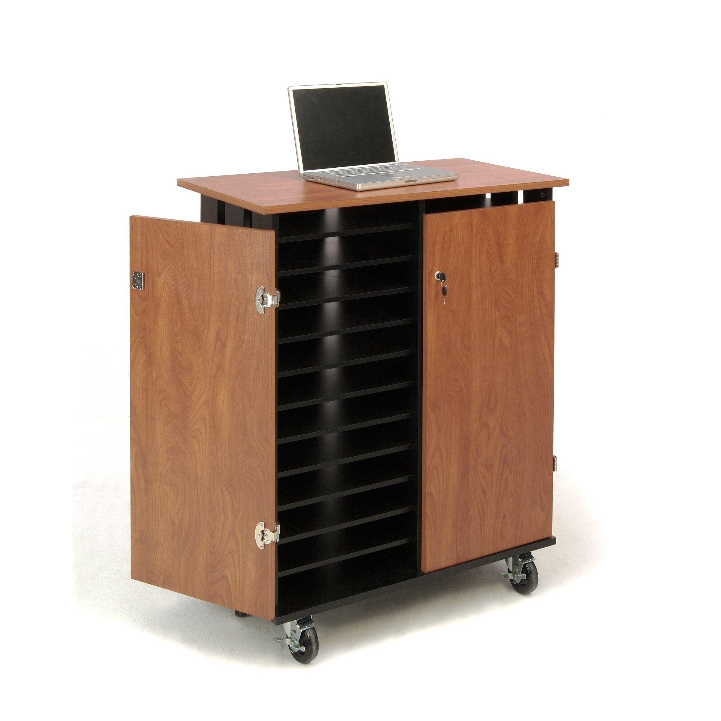 Oklahoma Sound Laptop Charging Storage Cart Cherry Red Black Lcsc Storage Cart Storage Laptop Screen Repair