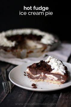 Hot Fudge Ice Cream Pie | Melanie Makes