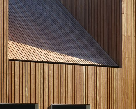 Timber Clad Roof And Walls With Secret Gutter Timber Architecture Gable Roof House Timber Roof