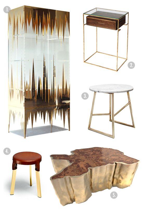 BADASS BRASS | Coco+kelley Featuring SEQUOIA Center Table  Http://brabbu.com/casegoods/sequoia.html