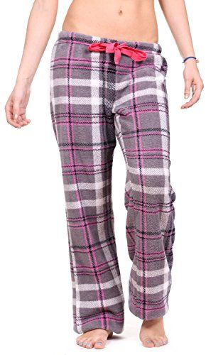 Women s Sleepwear - Totally Pink Womens Warm and Cozy Plush PajamaLounge  Pants    Click on the image for additional details. a2a878184