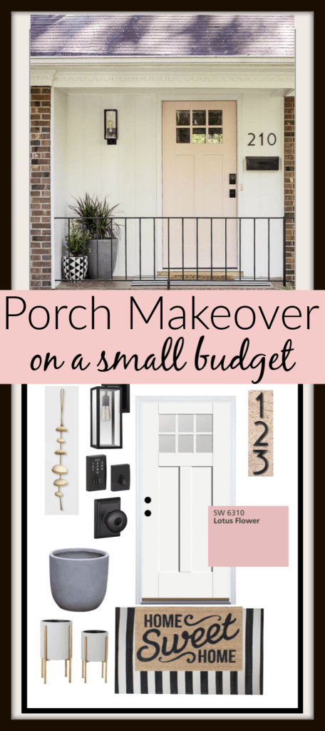 Small Front Porch Budget Makeover #smallporchdecorating