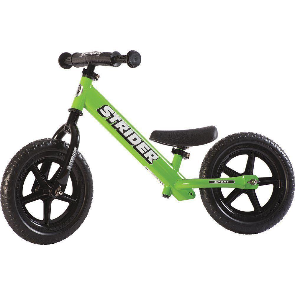 Strider Balance Bike Kids Ride Learning Steering 2 Wheels Green 12