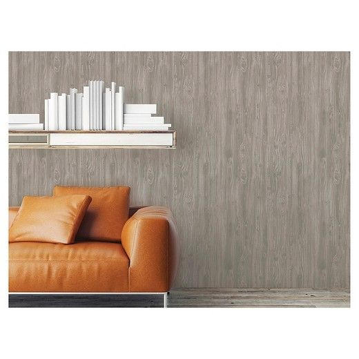 Diamond Accent Wall Orange Peel: Devine Color Textured Driftwood Peel & Stick Wallpaper