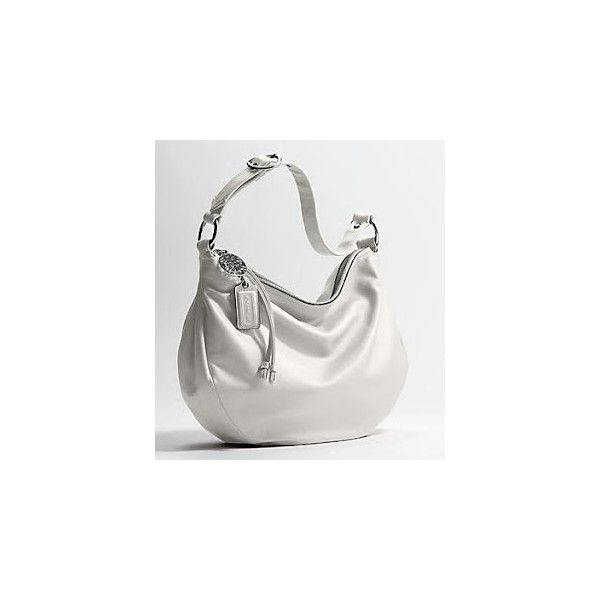 Coach Bags Coach Ali White Leather Hobo Bag Purse 13655 found on Polyvore 26fb0aaeb6a95
