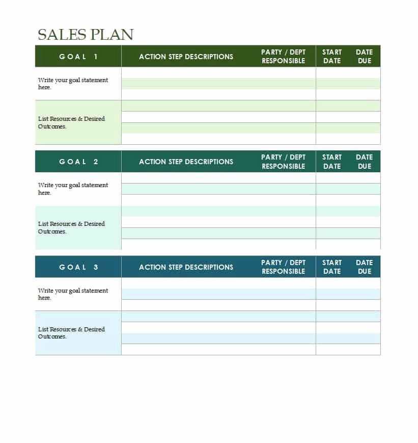 Free Strategy Plan Template In 2020 Sales Strategy Template