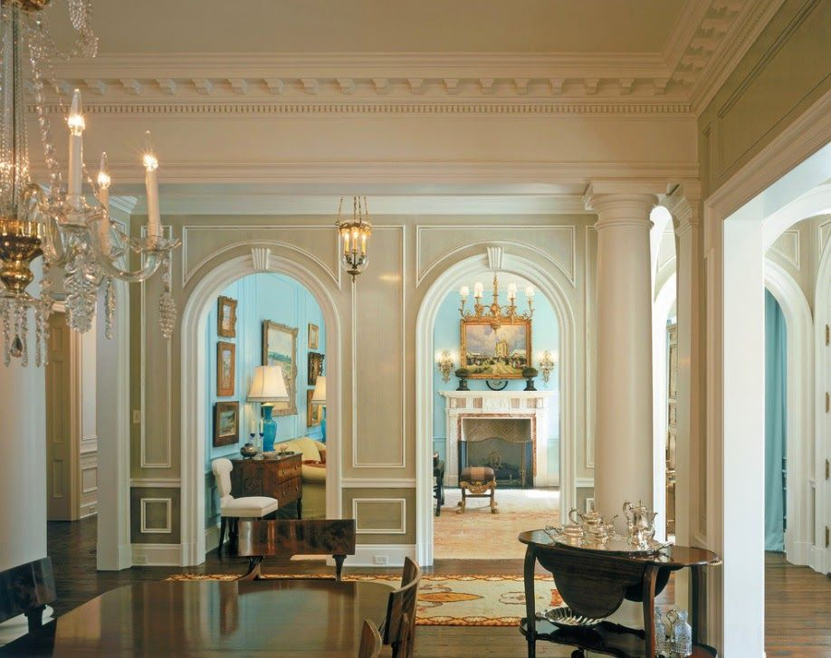 Gorgeous interior with beautiful architectural details ...